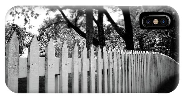 Fence iPhone Case - White Picket Fence- By Linda Woods by Linda Woods