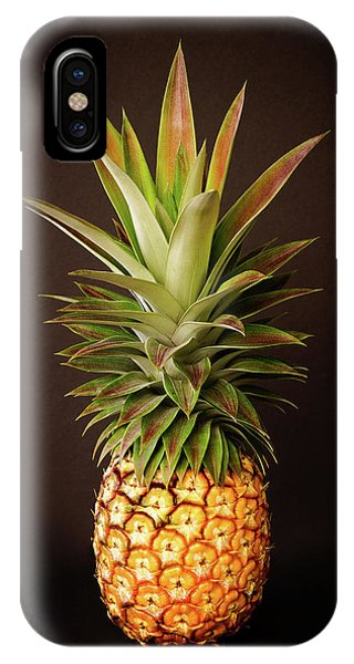 White Pineapple King IPhone Case