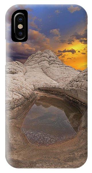 White Pocket Sunset IPhone Case