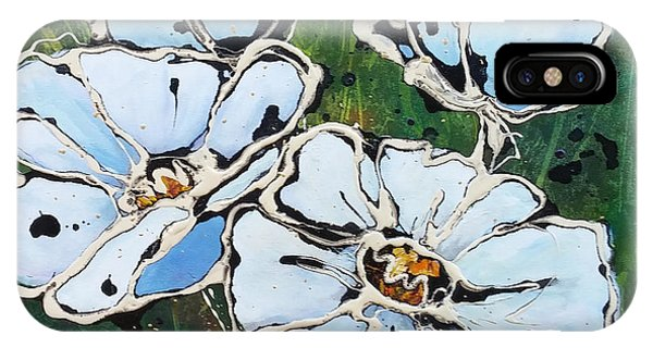 IPhone Case featuring the painting White Poppies by Phyllis Howard