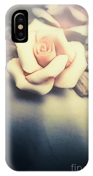 Stone Wall iPhone Case - White Porcelain Rose by Jorgo Photography - Wall Art Gallery