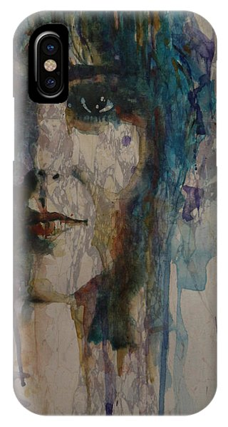 Grace iPhone X Case - White Rabbit by Paul Lovering