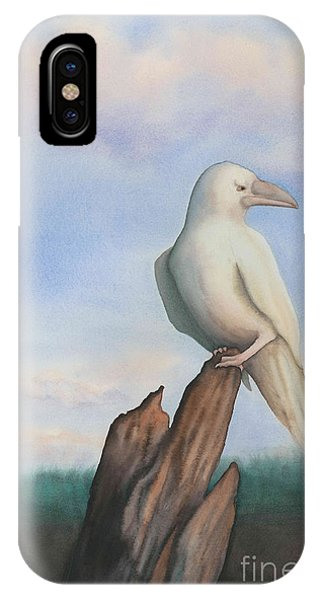 White Raven IPhone Case