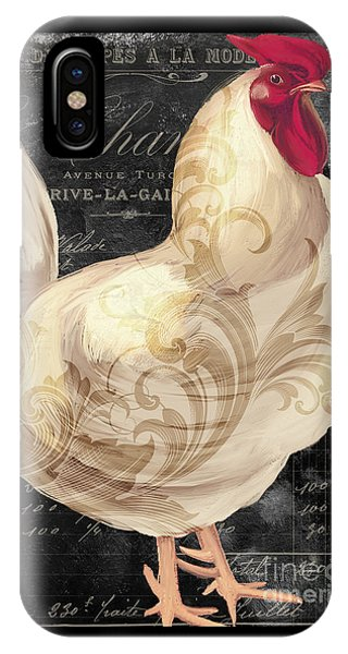 Rooster iPhone Case - White Rooster Cafe I by Mindy Sommers