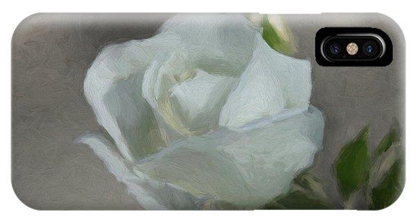 White Rose 2 IPhone Case