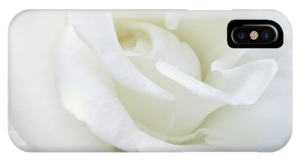 Horticulture iPhone Case - White Rose Angel Wings by Jennie Marie Schell