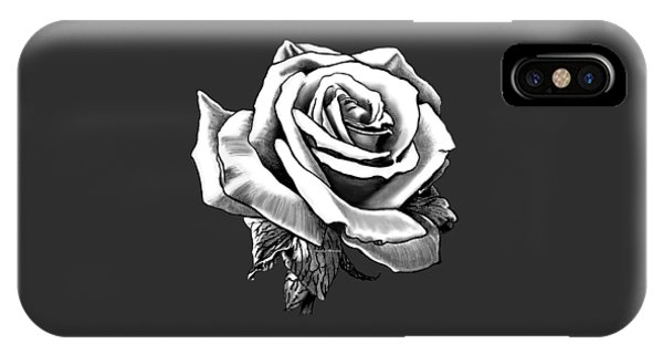 White Rose For The Lady IPhone Case
