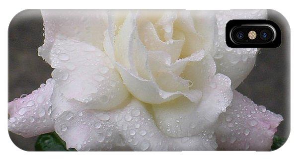 White Rose In Rain - 3 IPhone Case