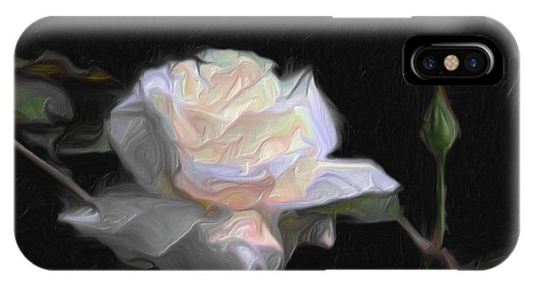White Rose Painting IPhone Case