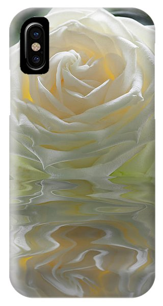 White Rose Reflection IPhone Case
