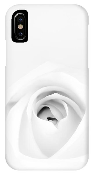 Mono iPhone Case - White Rose by Scott Norris