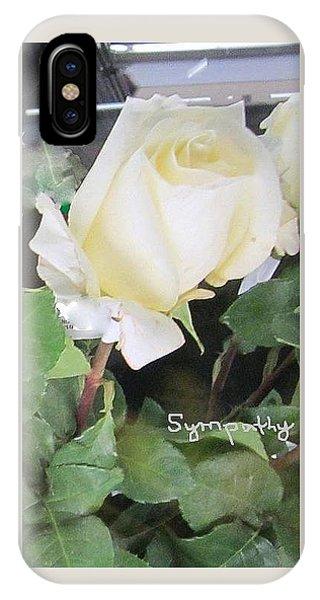 White Rose - Sympathy Card IPhone Case