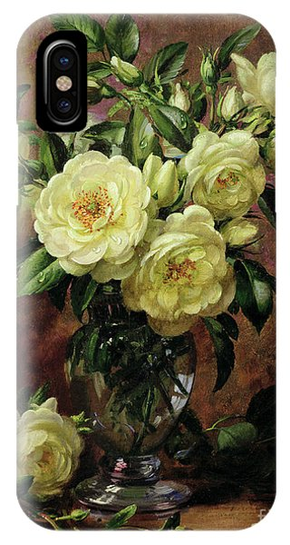 Rose iPhone X / XS Case - White Roses - A Gift From The Heart by Albert Williams