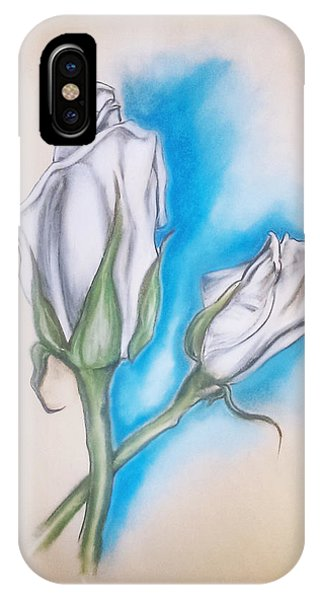 IPhone Case featuring the pastel White Roses by Keith A Link