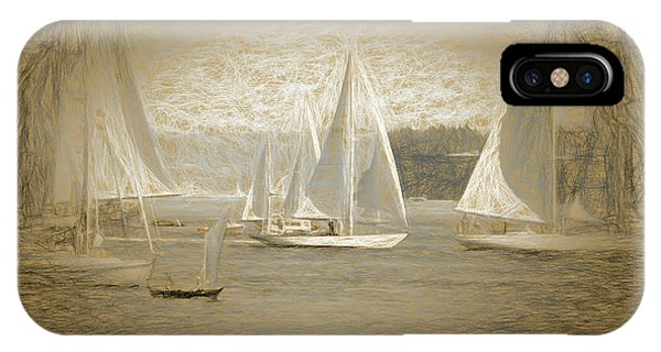 Port Townsend iPhone Case - White Sails On Admiralty Inlet by Cheryl Rose