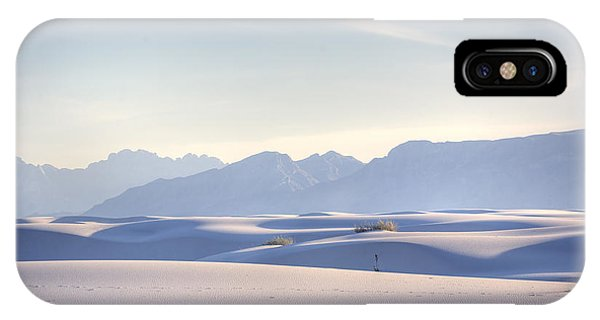 Desert iPhone Case - White Sands Blue Sky by Peter Tellone