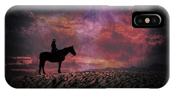 White Sands Horse And Rider #4c IPhone Case