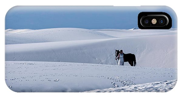 White Sands Horse And Rider #5b IPhone Case