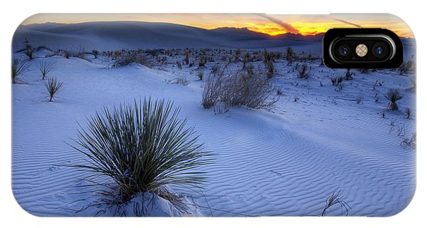 Desert iPhone X Case - White Sands Sunset by Peter Tellone