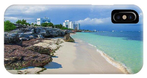 White Sandy Beach Of Cancun IPhone Case