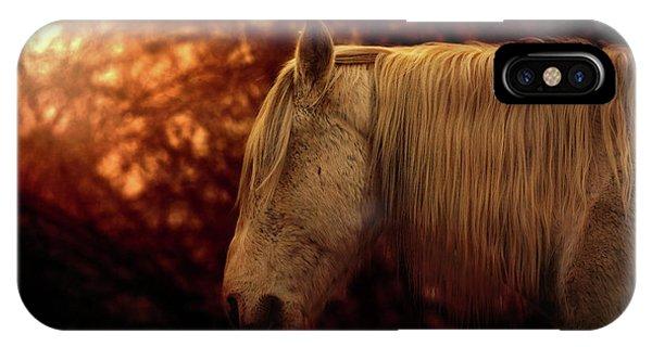 White Stallion IPhone Case