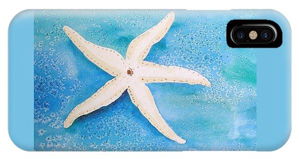 White Starfish IPhone Case