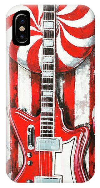 White Stripes Guitar IPhone Case