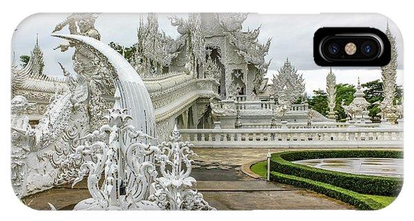 White Temple Thailand IPhone Case