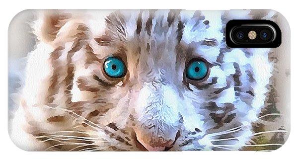 White Tiger Cub IPhone Case