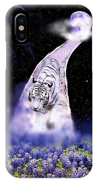 White Tiger Fantasy IPhone Case