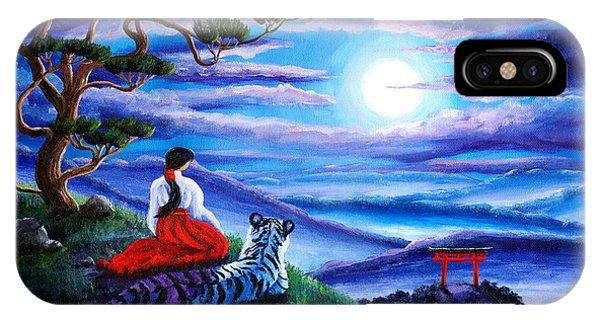 White Tiger Meditation IPhone Case