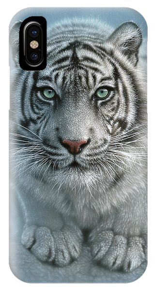 White Tiger - Wild Intentions IPhone Case