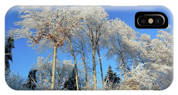 White Trees Clear Skies IPhone Case
