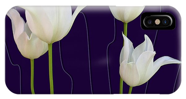 White Tulips For A New Age IPhone Case