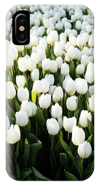 Tulip iPhone X / XS Case - White Tulips In The Garden by Linda Woods