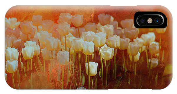 IPhone Case featuring the digital art White Tulips by Richard Ricci