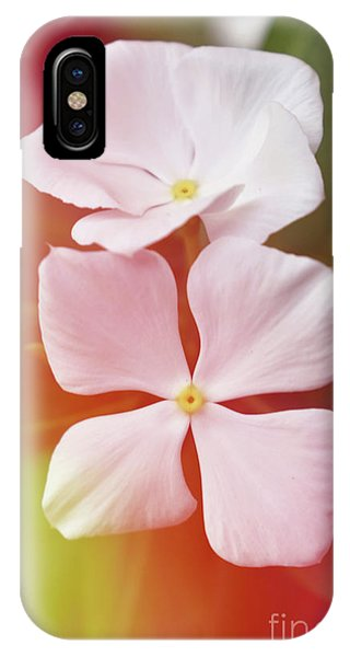 White Vinca With Vivid Highligts  IPhone Case
