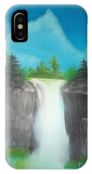 White Waterfall IPhone Case