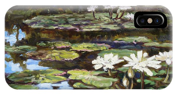 White Waterlilies In Tower Grove Park IPhone Case