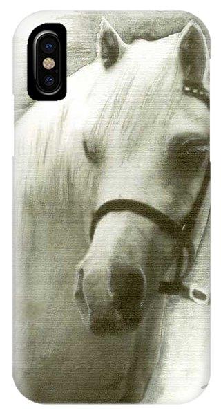 White Welsh Pony IPhone Case