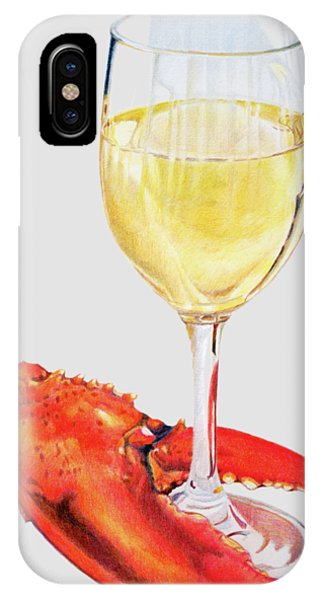 White Wine And Lobster Claw IPhone Case