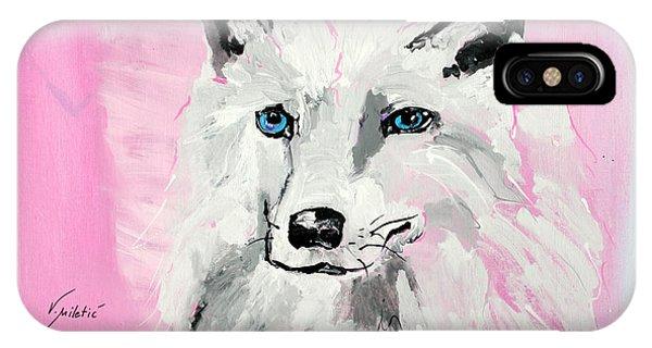 White Wolf - Animal Art By Valentina Miletic IPhone Case