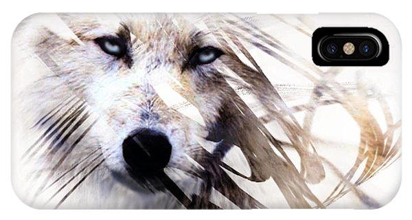 White Wolf IPhone Case