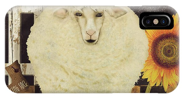 Sheep iPhone X / XS Case - White Wool Farms by Mindy Sommers