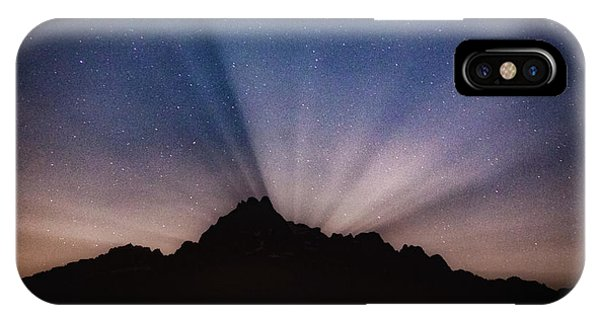 Whitehorse Mountain Moon Rays IPhone Case