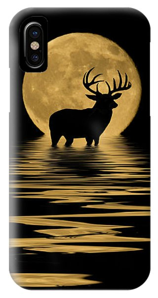 Whitetail Deer In The Moonlight IPhone Case