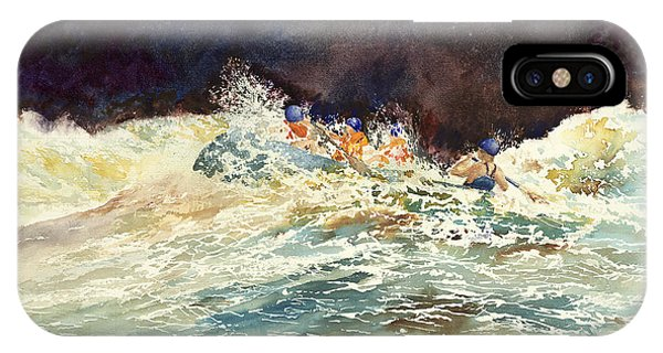 Whitewater Raftingon The Menominee IPhone Case