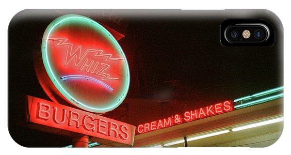 Whiz Burgers Neon, San Francisco IPhone Case