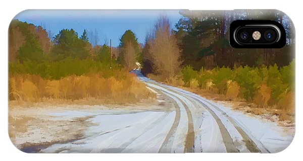 Snow Covered Lane IPhone Case