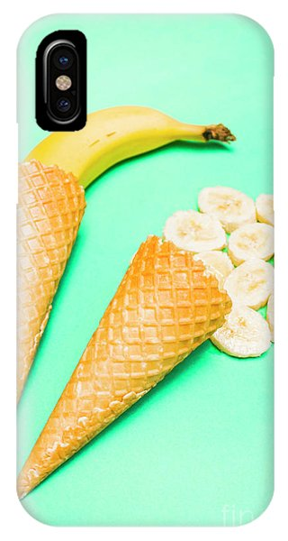 Summer Fruit iPhone Case - Whole Bannana And Slices Placed In Ice Cream Cone by Jorgo Photography - Wall Art Gallery